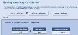 (4) Playing Handicap Calculation